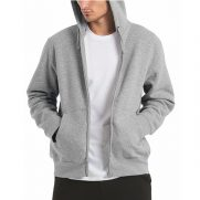 Hooded Full Zip Sweat / Men (B&C) unbedruckt Grau Mann