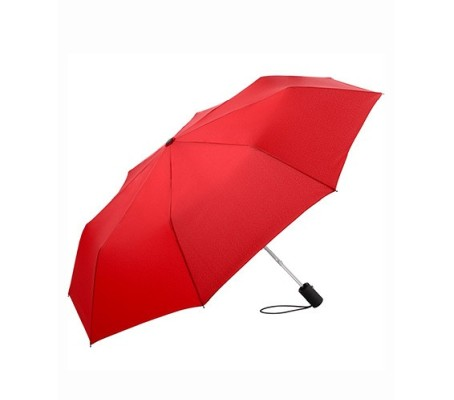 AC-Mini-Taschenschirm unbedruckt Rot geöffnet Back