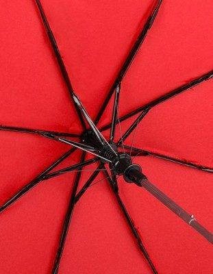 AC-Mini-Taschenschirm unbedruckt Rot geöffnet Streben Detail