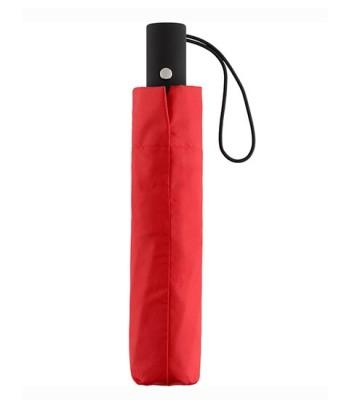 AC-Mini-Taschenschirm unbedruckt Rot geschlossen Stehend