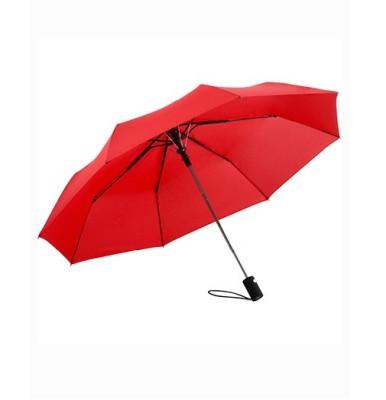 AC-Mini-Taschenschirm unbedruckt Rot geöffnet Front