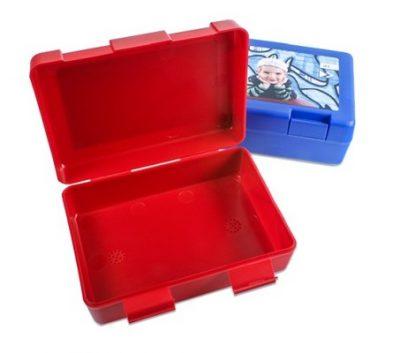 Brotzeitbox zwei Farben bedruckt Kind