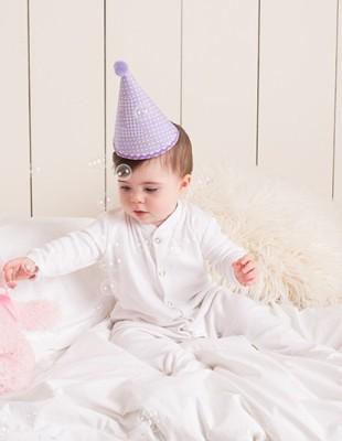 Baby Sleepsuit Langarm-Schlafanzug unbedruckt Kind