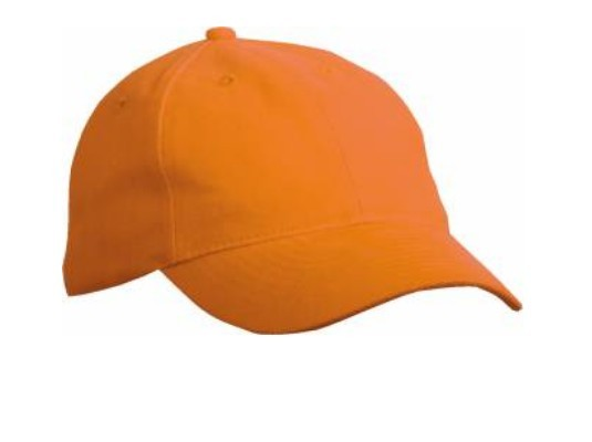 6 Panel Softlining Raver Kappe Orange