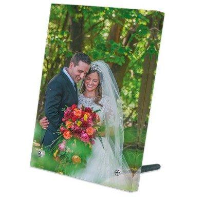 Acrylglas-Aufsteller Hochformat bedruckt Hochzeitspaar