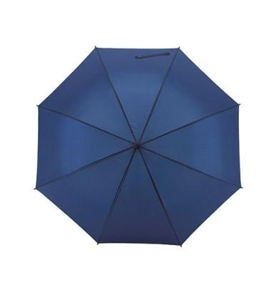 Automatik-Golfschirm ´Subway´ geöffnet Blau unbedruckt oben