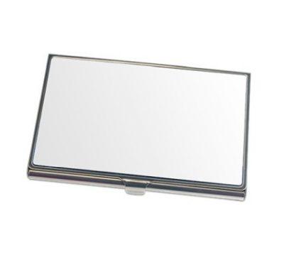 Visitenkartenbox Silber 97 x 68 mm unbedruckt