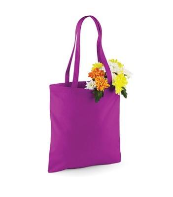 Bag for Life Einkaufstasche unbedruckt Lila mit Blumen
