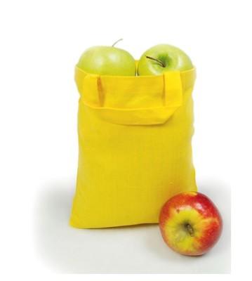 Apothekertasche gelb unbedruckt mit Inhalt