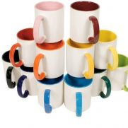 Keramiktasse TWO TONES verschiedene Farben Pyramide