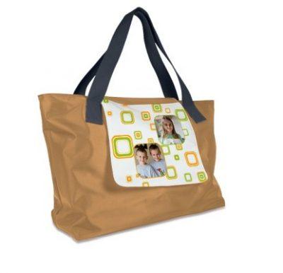 Shopping Bag LONDON Beige bedruckt Kinder