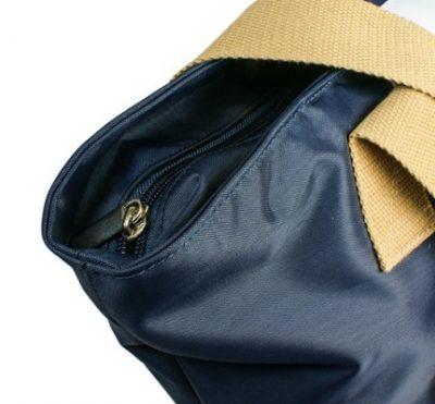 Shopping Bag LONDON Navyblau bedruckt Details