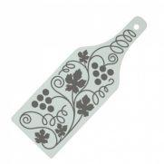 Glasschneidebrett in Flaschenform bedruckt