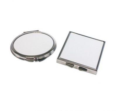 Handtaschenspiegel rund quadratisch unbedruckt geschlossen