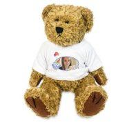 Teddybär Braun mit bedrucktem T-Shirt Mädchen