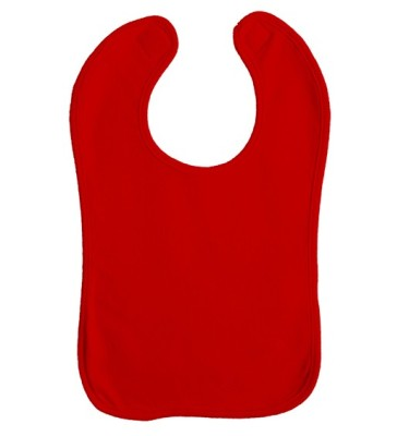 Babylätzchen Double Layer Red/Red