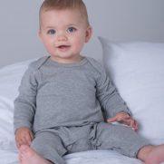 Baby Rompasuit 100% Baumwolle grau unbedruckt Kind