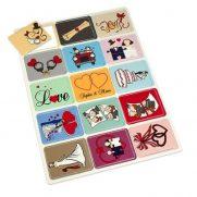 Gedächtnis-Spiel 15 Karten bedruckt Kindermotive aufgedeckt