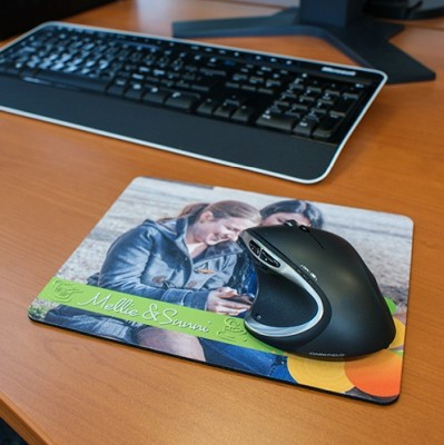 Textil-Mousepad 230 x 190 x 5 mm bedruckt Paar
