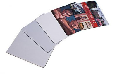 5 Textil-Mousepads 230 x 190 x 5 mm teilweise bedruckt