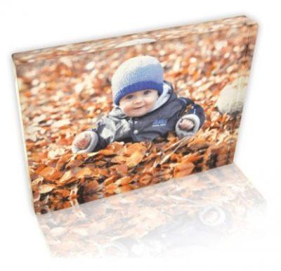Acrylglas-Aufsteller Querformat bedruckt Baby