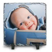 Schiefertafel in Quadratform bedruckt Baby