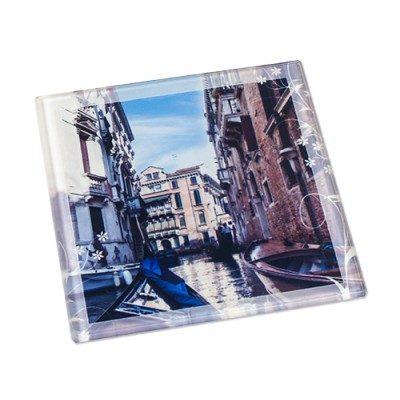Glas-Untersetzer 100x100 mm bedruckt Motiv Venedig