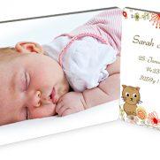 Doppel-Fotopaneel Querformat bedruckt Baby