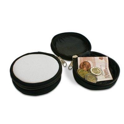 Mini-Geldbörse Farbe Schwarz Ø 90 mm unbedruckt