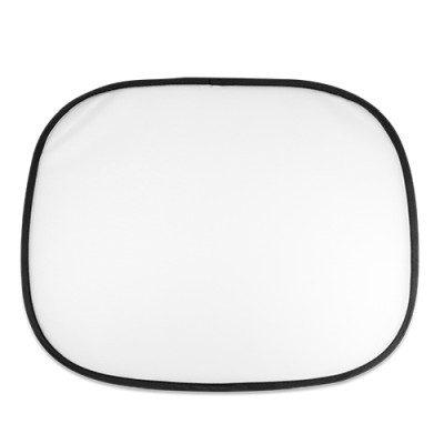 Auto-Sonnenschutz unbedruckt Weiß Schwarzer Rand